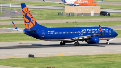 A picture of N826SY - Boeing 7378F2 - Sun Country Airlines - © Stephen J Stein