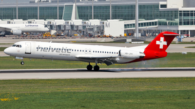 HB-JVH - Fokker 100 - Helvetic Airways