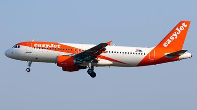 A picture of OEINP - Airbus A320214 - easyJet - © Javier Rodriguez - Amics de Son Sant Joan