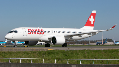 A picture of HBJCR - Airbus A220300 - Swiss - © Freek Blokzijl