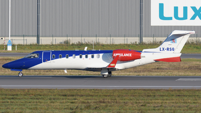 A picture of LXRSQ - Learjet45 - Luxembourg Air Ambulance - © Tom Mousel