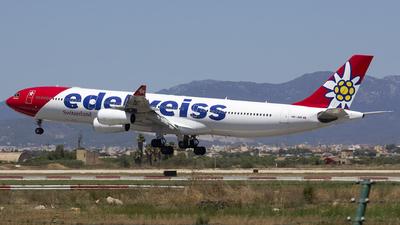 A picture of HBJMD - Airbus A340313 - Edelweiss Air - © Robert Szymczak