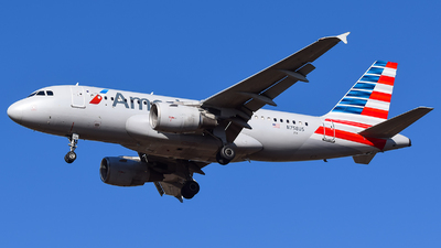 A picture of N758US - Airbus A319112 - American Airlines - © Evan Dougherty