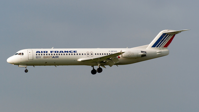 F-GPXC - Fokker 100 - Air France (Brit Air)
