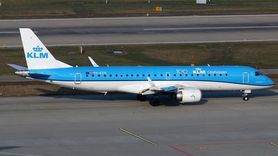 A picture of PHEZR - Embraer E190STD - KLM - © Brian T Richards