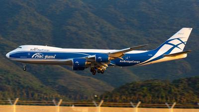 A picture of VQBFE - Boeing 74783Q(F) - AirBridgeCargo Airlines - © smallblack0v0