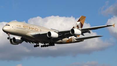 A picture of A6APJ - Airbus A380861 - Etihad Airways - © Ferenc Kolos