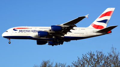 A picture of GXLEA - Airbus A380841 - British Airways - © Stefan Alexandru