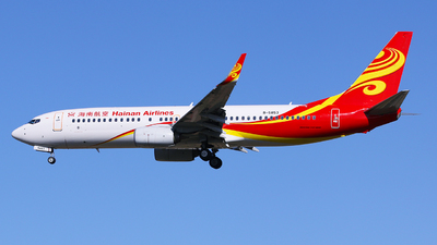 A picture of B5853 - Boeing 73784P - Hainan Airlines - © Martin Ma