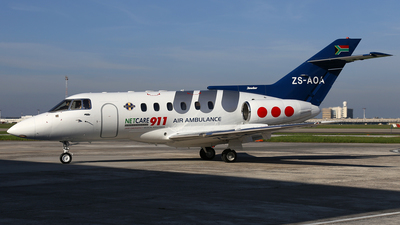 ZS-AOA - British Aerospace BAe 125-800A - Netcare 911 Aeromedical