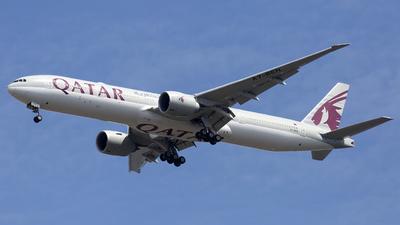 A picture of A7BEN - Boeing 7773DZ(ER) - Qatar Airways - © Akbarali Mastan