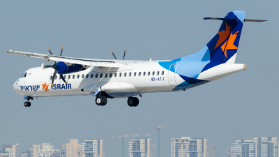 A picture of 4XATJ - ATR 72500 - Israir Airlines - © Eyal Zarrad