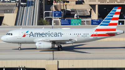A picture of N831AW - Airbus A319132 - American Airlines - © Jason Whitebird