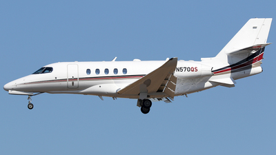 A picture of N570QS - Cessna 680A Citation Latitude - NetJets - © AviaStar Photography