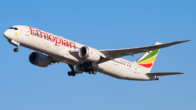 A picture of ETAUP - Boeing 7879 Dreamliner - Ethiopian Airlines - © Leige Yang