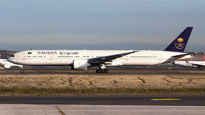 A picture of HZAK20 - Boeing 777368(ER) - Saudia - © Emre Tanrivermis