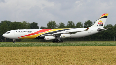 A picture of OOABA - Airbus A340313 - Air Belgium - © Marcel Schmidt