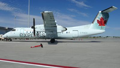 A picture of CFACV - De Havilland Canada Dash 8300 - Air Canada - © Craig L Baldwin