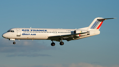 F-GPXK - Fokker 100 - Air France (Brit Air)