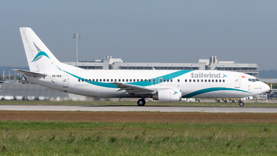 A picture of TCTLE - Boeing 7374Q8 - Tailwind Airlines - © Thomas Ernst