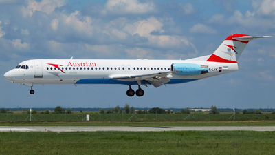OE-LVK - Fokker 100 - Austrian Airlines (Tyrolean Airways)