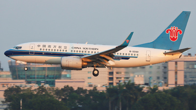 A picture of B5250 - Boeing 73771B - China Southern Airlines - © Fang Xiaoyu