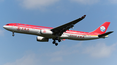 A picture of B5929 - Airbus A330343 - Sichuan Airlines - © MingyaoLeonardo