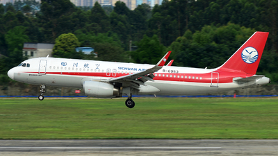 A picture of B6953 - Airbus A320232 - Sichuan Airlines - © F3E1988