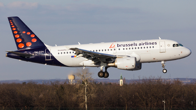 A picture of OOSSN - Airbus A319112 - Brussels Airlines - © SlowhanD