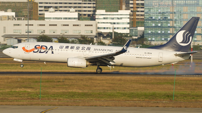 A picture of B1508 - Boeing 73785N - Shandong Airlines - © wingsofchina