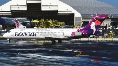 A picture of N487HA - Boeing 71722A - Hawaiian Airlines - © Abram Chan - AirTeamImages