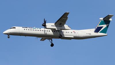 A picture of CFSWE - De Havilland Canada Dash 8400 - WestJet - © hk_346_aviation_photography