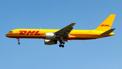 A picture of GDHKH - Boeing 75728A(PCF) - DHL - © Julian Azeroth