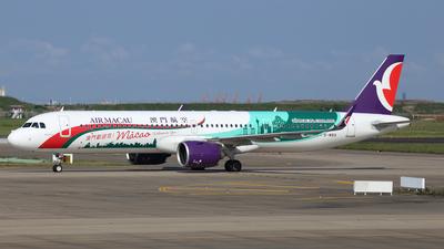 A picture of BMBQ - Airbus A321271NX - Air Macau - © Ken Chen
