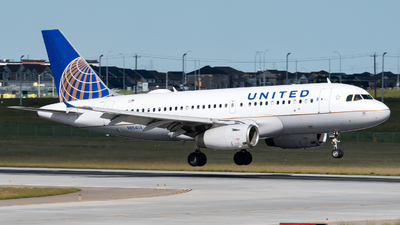 A picture of N854UA - Airbus A319131 - United Airlines - © zhangmx969