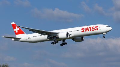 A picture of HBJNF - Boeing 7773DE(ER) - Swiss - © TJDarmstadt
