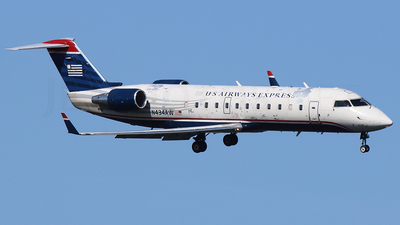 N434AW - Bombardier CRJ-200LR - US Airways Express (Air Wisconsin)
