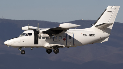 A picture of OKWDC - Let L410 Turbolet - Silver Air - © Chris Lofting
