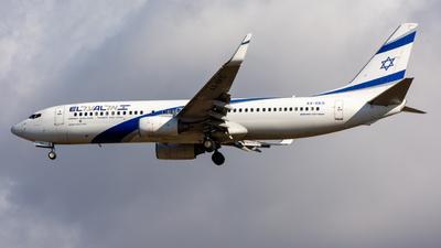 A picture of 4XEKS - Boeing 7378HX - El Al - © srmark