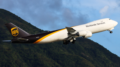 A picture of N608UP - Boeing 7478F - UPS Airlines - © Chow Kin Hei
