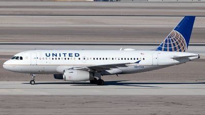 A picture of N817UA - Airbus A319131 - United Airlines - © 702Aviationn