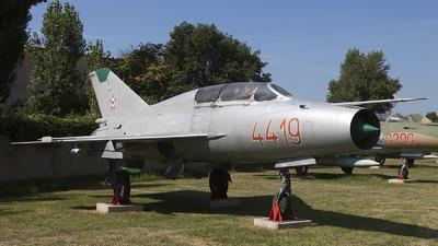 4419 - Mikoyan-Gurevich MiG-21U Mongol A - Hungary - Air Force
