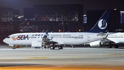 A picture of B5561 - Boeing 73786N - Shandong Airlines - © Mason Wang