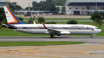 HS-TYS - Boeing 737-8Z6(BBJ2) - Thailand - Royal Thai Air Force