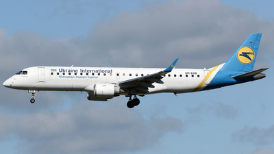A picture of UREMB - Embraer E190STD - Ukraine Int. Airlines - © Terry Wade