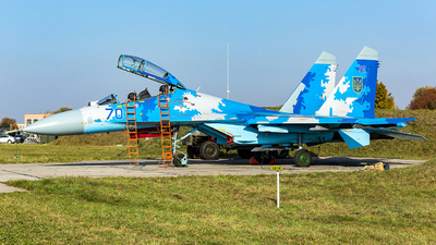 70 - Sukhoi Su-27UB Flanker C - Ukraine - Air Force