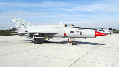 118 - Mikoyan-Gurevich MiG-21bis Fishbed L - Croatia - Air Force