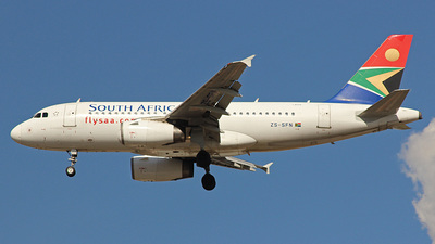 ZS-SFN - Airbus A319-131 - South African Airways