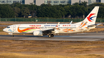 A picture of B1791 - Boeing 73789P - China Eastern Airlines - © Zhang Yiyang