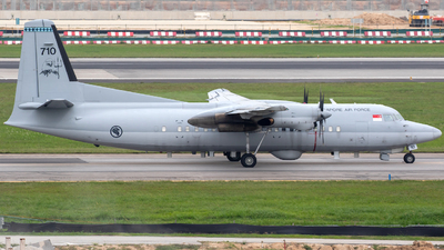 710 - Fokker 50 - Singapore - Air Force